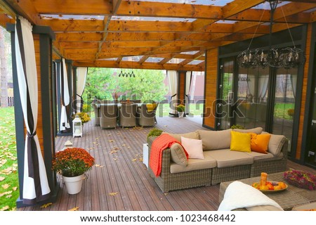 summer cottage terrace #1023468442