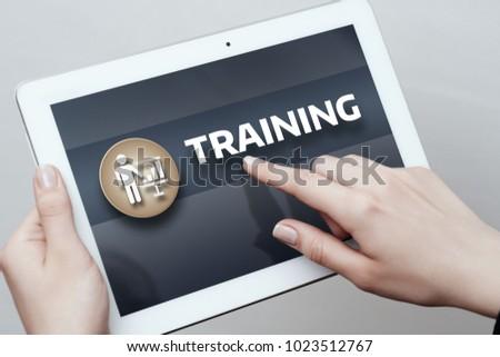 Training Webinar E-learning Skills Business Internet Technology Concept. #1023512767