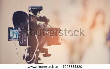 videographer, professional camera, man with camera  #1023855820
