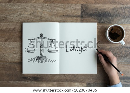 LAWYER AND JUSTICE CONCEPT #1023870436