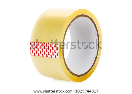 roll of scotch tape isolated on white #1023944317