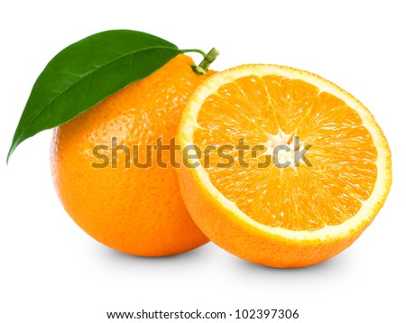 Orange fruit isolated on white background #102397306