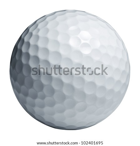 Golf ball isolated on white wiht Clipping path #102401695