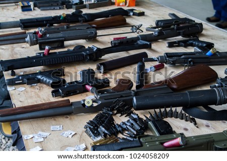 A table of miscellaneous firearms #1024058209