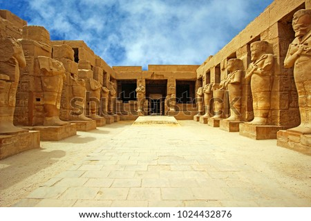 Anscient Temple of Karnak in Luxor - Ruined Thebes Egypt #1024432876