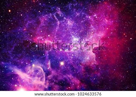 Bursting Galaxy - Elements of This Image Furnished by NASA