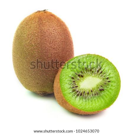 kiwi fruits isolated on white background. #1024653070