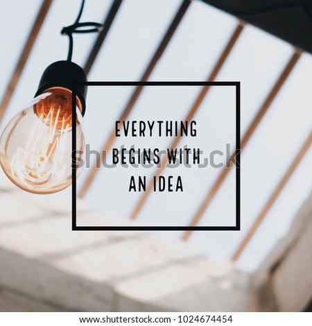 Inspiration motivation quote about thinking #1024674454