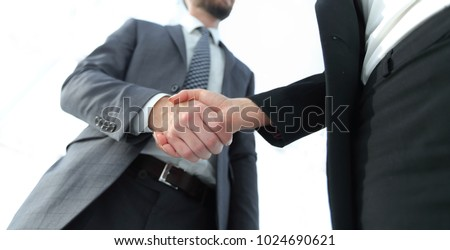 Business partnership meeting concept. Image businessmans handsha #1024690621