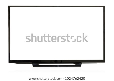 Computer monitor isolated on a white background.Clipping Path. #1024762420