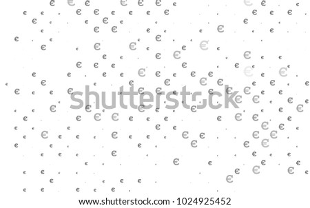 Dark Silver, Gray vector layout with banking symbols. Shining illustration with signs of Euro on abstract template. Smart design for your business advert of economic, wealth. #1024925452