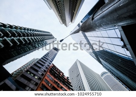 skyscrapers view from below #1024955710
