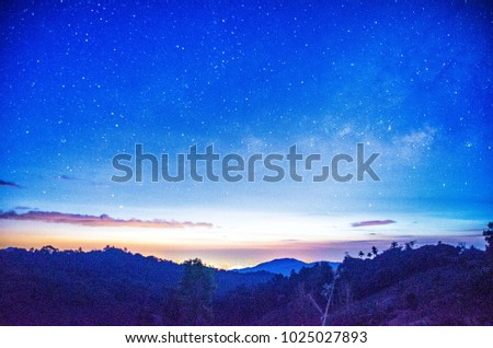 Milky way in Chiangmai Thailand #1025027893