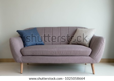 interior design for living area in modern style and sofa with pillow #1025058664