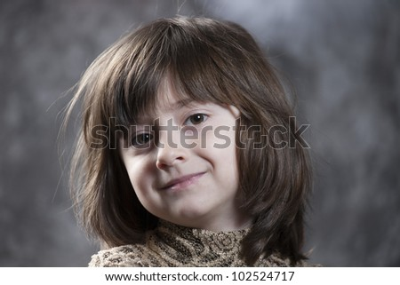 Beautiful smiling little girl #102524717