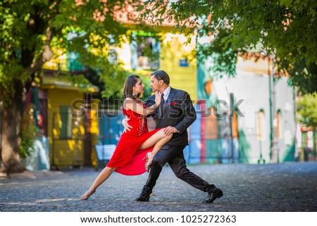 Argentine tango couple posing #1025272363
