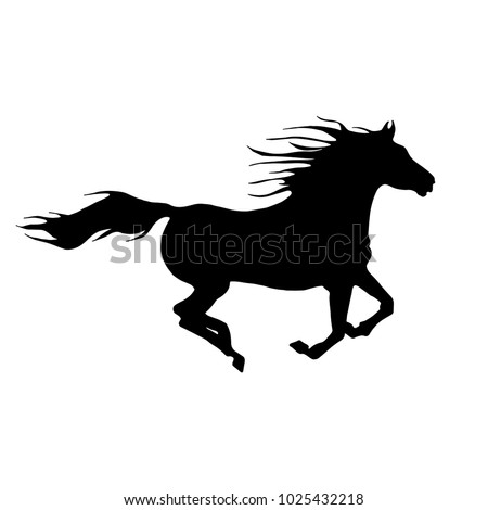 Running horse silhouette illustration