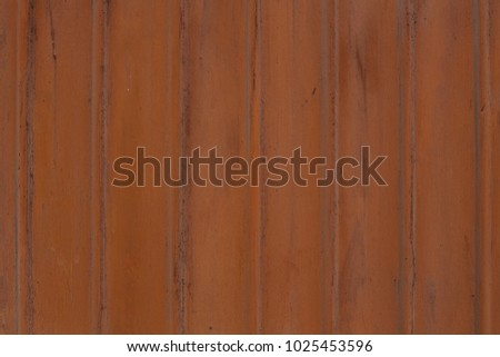 texture of old metal with rust, brown striped, close-up #1025453596