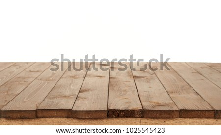 wooden board for background or texture isolated on white #1025545423