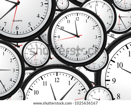 Business Clock Concept Background