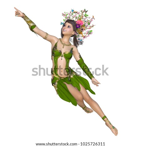 3D CG rendering of a fairy #1025726311