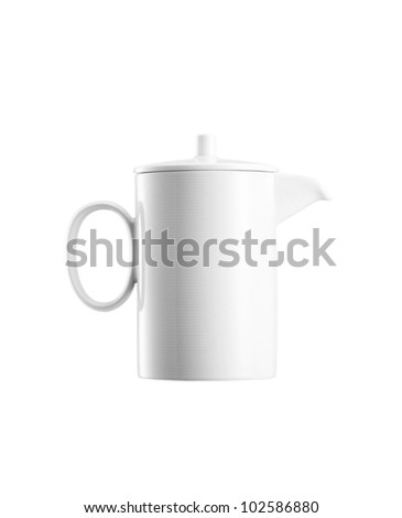 Ceramick teapot on white background #102586880
