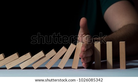 Stop falling wooden puzzles #1026085342