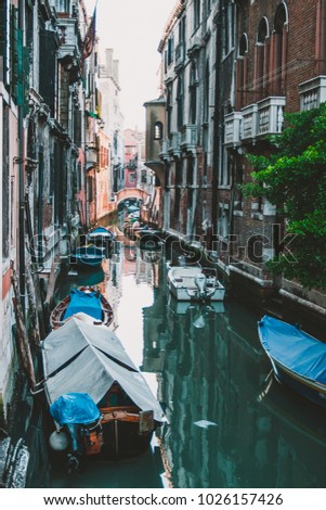 Romantic canals in Venice - Italy. #1026157426