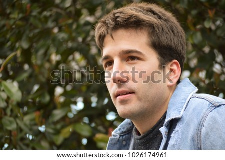 young man in park #1026174961