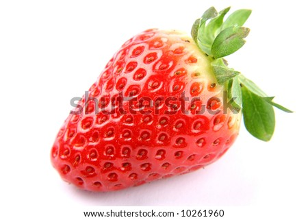 strawberries on white background - copy space #10261960