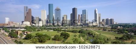 Houston Skyline, Memorial Park, Texas
