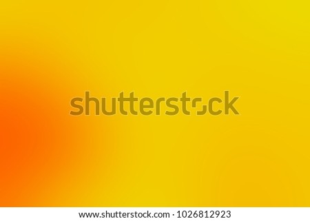 Abstract bright soft colorful smooth blurred textured background off focus toned in warm orange and yellow color. Can be used as a wallpaper or for web design. #1026812923