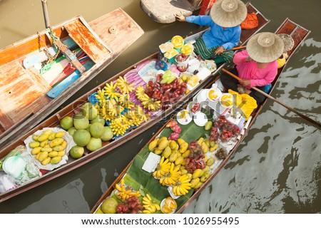 floating market bangkok #1026955495