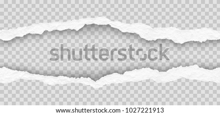 seamless torn paper edges, vector illustration Royalty-Free Stock Photo #1027221913