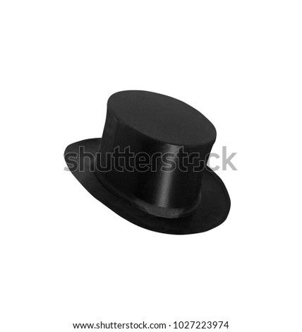 top hat cylinder isolated on white #1027223974