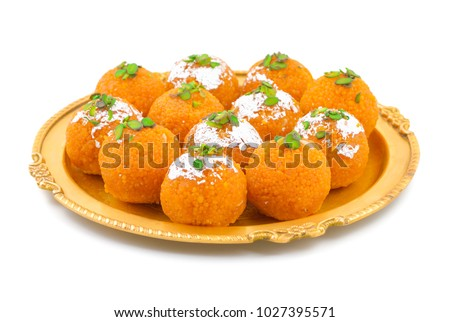Indian Sweet Motichoor laddoo Also Know as Bundi Laddu or Motichur Laddoo Are Made of Very Small Gram Flour Balls or Boondis Which Are Deep Fried #1027395571