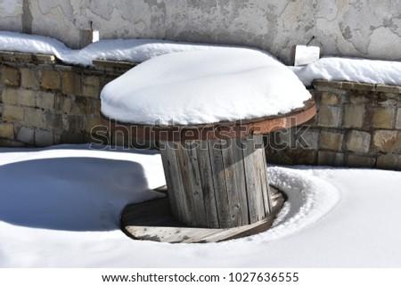 snow on empty reel #1027636555