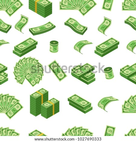 Money pattern with us dollar banknote, vector illustration #1027690333