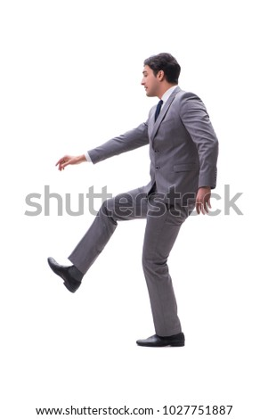Businessman isolated on the white background #1027751887