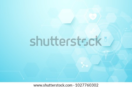 Abstract geometric hexagons shape medicine and science concept background Royalty-Free Stock Photo #1027760302