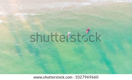 Beautiful aerial view of beach and sea #1027969660