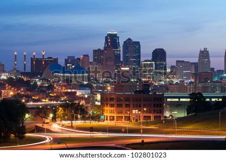 Kansas City. Image of the Kansas City skyline at sunrise.