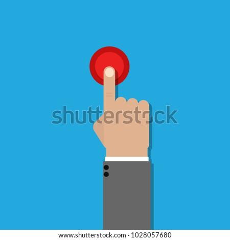 hand click no flat design vector icon illustration #1028057680