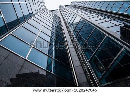 Birmingham, England / United Kingdom - February 18 2018: Tall corporate building in the Birmingham City Centre #1028247046