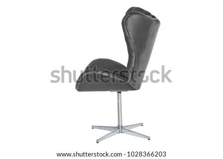 Modern designer chair on white background. Texture chair. #1028366203
