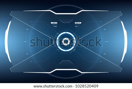 Sci-Fi Concept of Future Vector HUD Interface Screen. Virtual Reality View Display. Hologram Technology