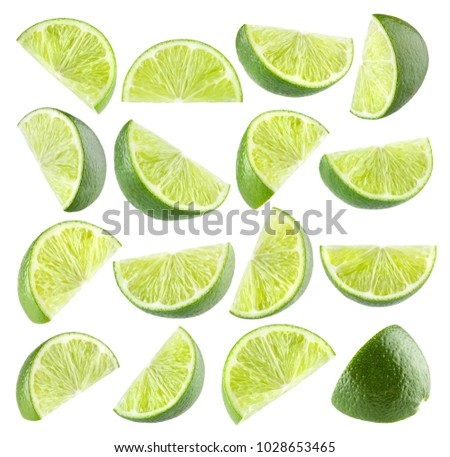 Collection of 16 isolated lime images #1028653465