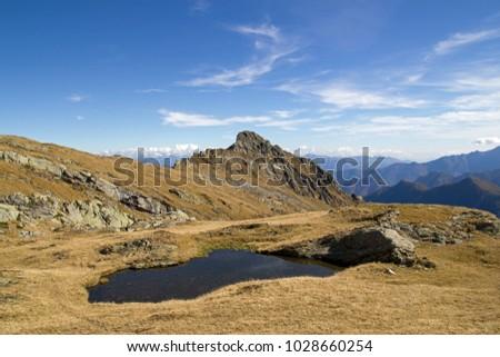 Beautiful alpine lake #1028660254