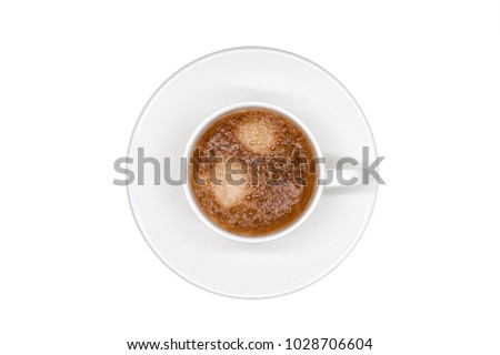 coffee cup isolated top view on white background #1028706604