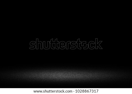 Dark room with concrete floor and wall background #1028867317